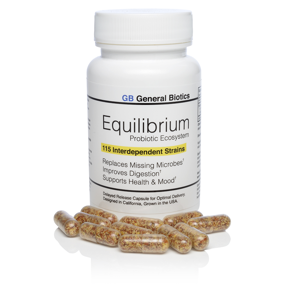 each 30 day supply of Equilibrium comes in a white plastic bottle